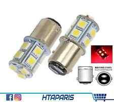 2 ampoules 1157 BAY15D P21/5W 13 smd LED ROUGE / RED Brake Light - Freinage Stop