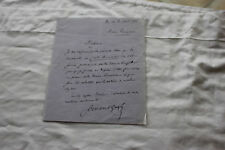 LETTRE AUTHOGRAPHE DE MICHEL CORDAY