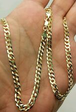 "10k Solid Yellow Gold High Polish Cuban Curb Necklace Pendant Chain 20"" 4.7mm"
