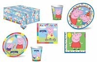 Peppa Pig Birthday Party Tableware Napkins Plates Cups Tablecover