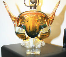 Vintage Chribska Glass Cats Head Vase by Josef Hospodka c.1960's (19 cm high)