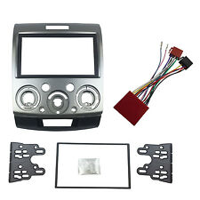 Double Din Fascia With ISO Wiring Harness For Ford Everest Ranger Mazda BT-50