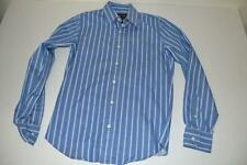 EZRA ABERCROMBIE FITCH BLUE WHITE STRIPED POCKET DRESS SHIRT MENS SIZE SMALL S
