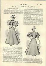 1895 Prospective Surrey Cricket Captain Druce Ladies Fashion Dress