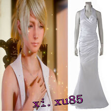 Origial Final Fantasy XV Lunafreya Nox Fleuret Cosplay Dress Costume Customized