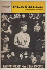 "Zoe Caldwell  ""The Prime of Miss Jean Brodie""  Playbill  1968 Broadway"
