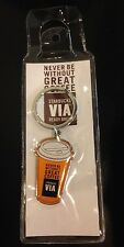 Starbucks Coffee Indonesia VIA Orange Keychain Charm