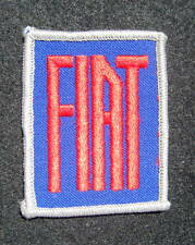 "FIAT EMBROIDERED SEW ON PATCH ITALIAN AUTO CAR UNIFORM ADVERTISING 2"" x 2 3/4"""