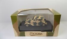 VICTORIA R011 MERCEDES 170V AFRIKA KORPS WITH CAMOUFLAGE MINT BOXED 1:43