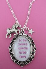 "Be The Shiniest Unicorn In The Room Star Charm Cluster 18"" Necklace New in Bag"
