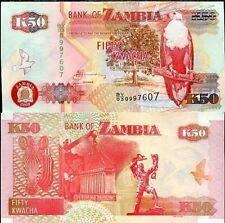 ZAMBIA 50 KWACHA P NEW UNC