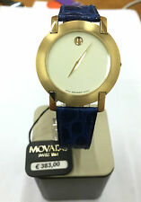 Orologio movado watch nuovo 30 m SWISS pelle blu 560702621 WATCH blue LEATHER