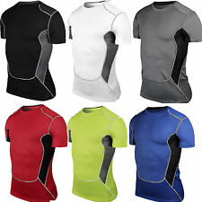 Mens Sport Compression Armour Thermal Base Layer Gear Under Shirt Top Vest Skins