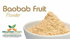 Baobab Organico Frutta in polvere-Superfood africana supplemento 25g Gratis UK Consegna