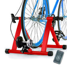 NEWEST 5 RESISTANCES MAGNETIC BICYCLE INDOOR EXERCISE BIKE TRAINER STAND RED