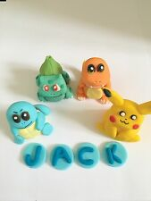 Edible In The Style Of Pokemon  Name Go Cake Topper Decoration