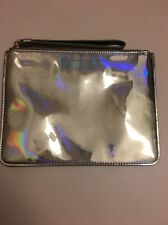 MARC JACOBS Gold Metallic Mirrored Lame Small Wristlet Pouch Clutch Purse Bag