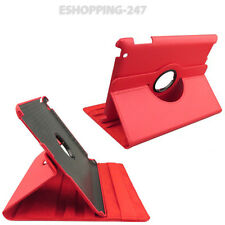Red Case Cover Stand 360 Degree for iPad 2/3 & 4 Leather Smart Sleep Wake C001