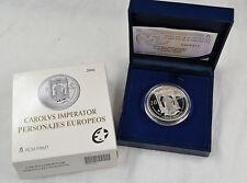10 euro españa 2006 carlos v. plata 925 en estuche pp