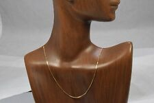 Women's Uno. A. Erre Brand .80 mm Solid 14k Yellow Gold Box Chain 20 in Length