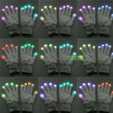 LED Rave Light Glow Finger Lighting Flashing Gloves For Concert Party Club Disco