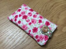 Clarke and Clarke Ditsy Rosa Tela iPhone 6/Funda Acolchado 6 Plus