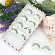 5 Pairs Makeup Natural Thick False Eyelashes Long Eye Lashes Extension Handmade