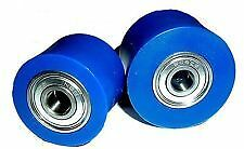 SUZUKI RM 500 83 Chain Roller Set Rollers Upper  Lower Chainroller Blue