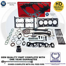 FOR VAUXHALL CORSA C D 1.3 CDTi DIESEL TIMING CHAIN KIT HEAD GASKET SET BOLTS
