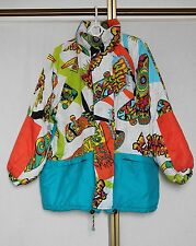 Vintage 80s Neon Abstract Ski Snow Suit Top Snowboard Jacket M