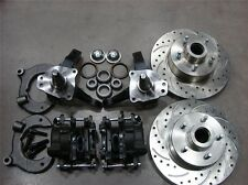 "MUSTANG II 2 FRONT 11"" DRILLED FORD ROTOR DISC BRAKE STOCK SPINDLE FREE SS LINES"