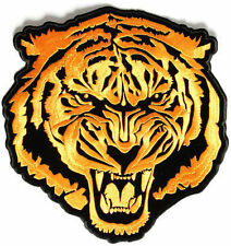 Baron Orange Tiger Embroidered Motorcycle Quality Biker NEW BACK Patch LRG-0351