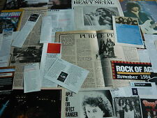 DEEP PURPLE/RELATED - MAGAZINE CUTTINGS COLLECTION (REF 2)