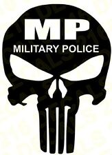 Punisher Car Truck Vinyl Decal  Military Police Air Force Army Navy Marines MP