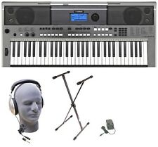 Yamaha PSRE443 Lighted 61 Keys Digital Keyboard+Stand+Adapter+Headphones