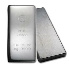 One piece 100 oz 0.999 Fine Silver Bar Republic Metals Corporation-5. Lot 7138