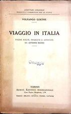 VIAGGIO IN ITALIA DI VOLFANGO GOETHE