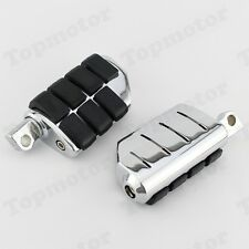 Chrome Rubber Billet Rear Front Foot Pegs For Harley Dyna Road King Sportster XL