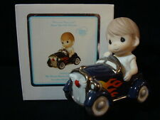 zh Precious Moments-Boy/Hot Rod Race Car-My Heart Races Only For You