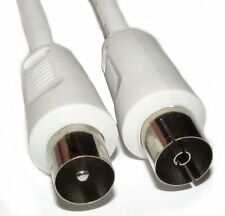 2.5m Long Coax Plug Male to Coax Socket Female Lead for TV Aerial Connections