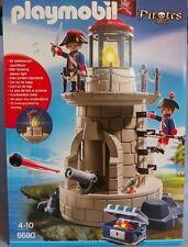 PLAYMOBIL 6680 PIRATES le phare forteressse des soldats français ile pirate