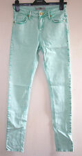 NEW TOPSHOP MOTO TURQUOISE GREEN HIGH WAISTED JAMIE SKINNY JEANS UK10 W28 L32