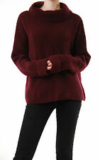 Free People Women's Turtle Neck Sweater Pullover Long Sleeve Berry Size S BCF510
