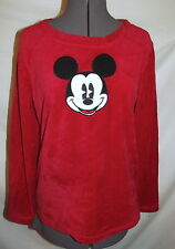 "Mickey Mouse fleece red black pajamas set Top & pants  Small 40"" chest"