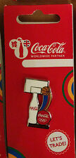 LONDON 2012 OLYMPICS COCA COLA BOTTLES SPORTS EQUIPMENT BASKETBALL PIN BADGE RIO