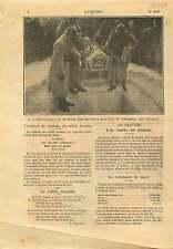 WWI Poilus Tombe Soldat Inconnu Arc de Triomphe Champs-Elysées 1921 ILLUSTRATION