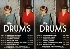 4 X THE DRUMS TOUR FLYER CARDS - PORTAMENTO