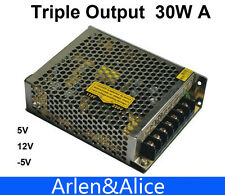 30W Triple output 5V 12V -5V Switching power supply smps AC to DC