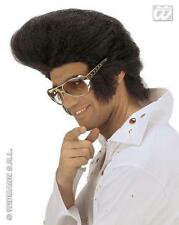 Large Black Elvis Wig Huge Quiff Premium Quality Rock N Roll Rocker Fancy Dress