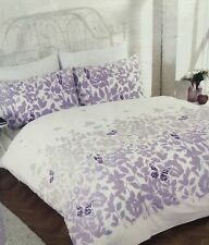 BNIP Lilac Purple White Butterflies Leaves SINGLE Duvet Set NEW Girls Bedroom